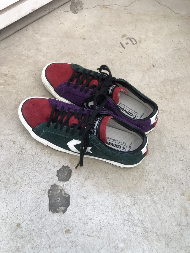 CONVERSE SKATEBOARDING:PRORIDE SK OX + C/# GREEN/RED/PURPLE