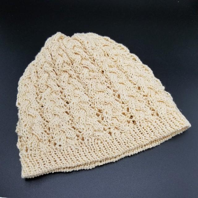 縄編み帽子 B2