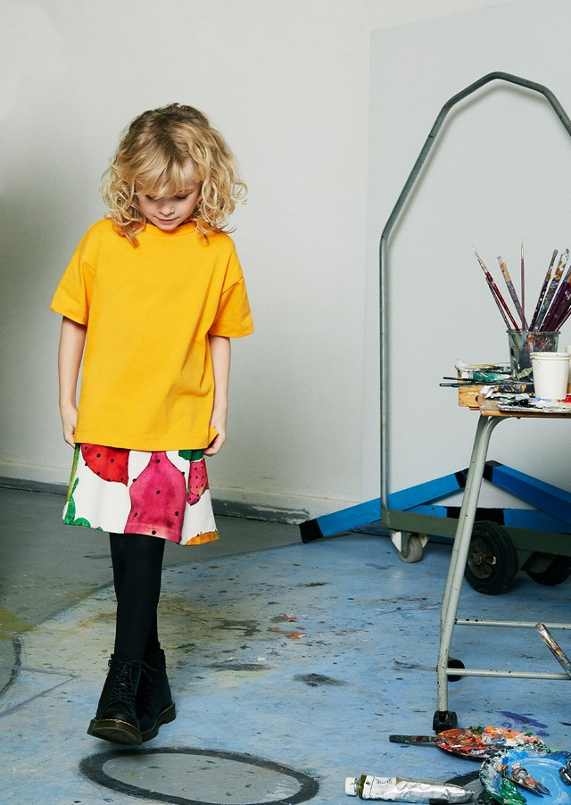 【20AW】WAWA(ワワ)CIRCLE SKIRT CACTUS【2-3y/3-4y/4-5y/5-6y/6-7y/8-9y】LIGHT GREY スカート