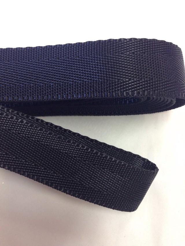 ナイロン ベルト シート織 25mm幅 1.3mm厚 5m 黒