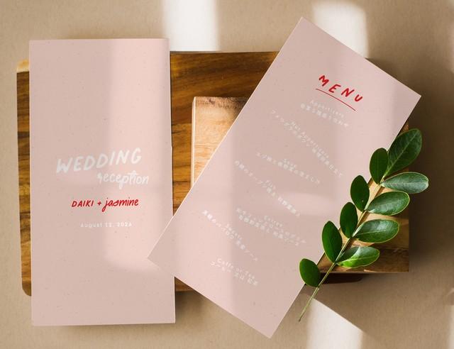 席次表 169円~/部【ピンク×レッド】│ウェディング 結婚式 プロフィールブック