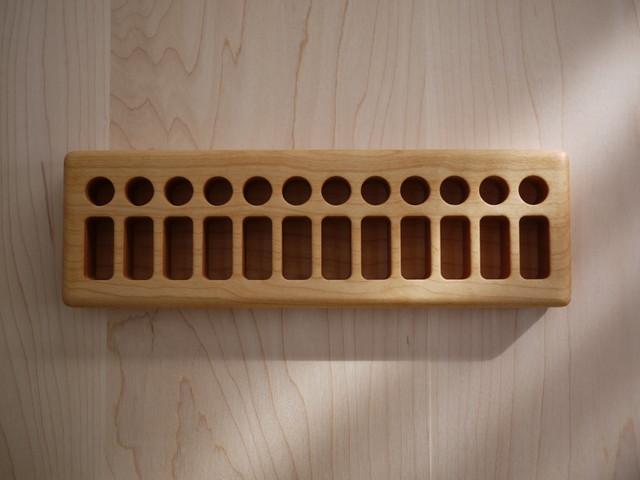 FromJennifer 木製クレヨンホルダー【サイズ: 12 Blocks/12 Sticks】