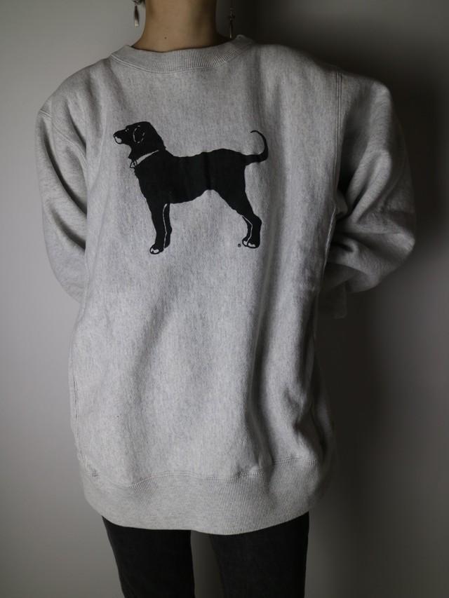 The black dog print sweat【0951】