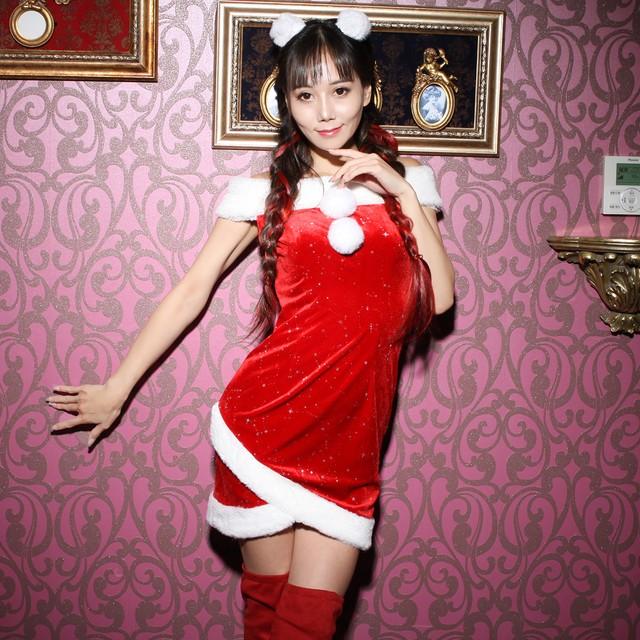 コスプレ衣装 ワンピース 可愛いコスプレ かわいい サンタクロース 3点セット