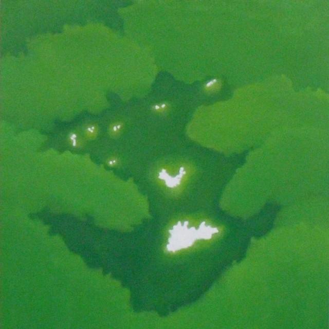 絵画 インテリア アートパネル 雑貨 壁掛け 置物 おしゃれ 夜 風景 ロココロ 画家 : 馬見塚喜康 作品 : よるのまち2