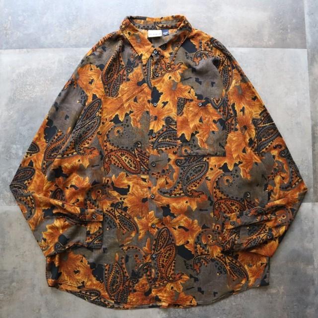 made in USA Paisley pattern shirt