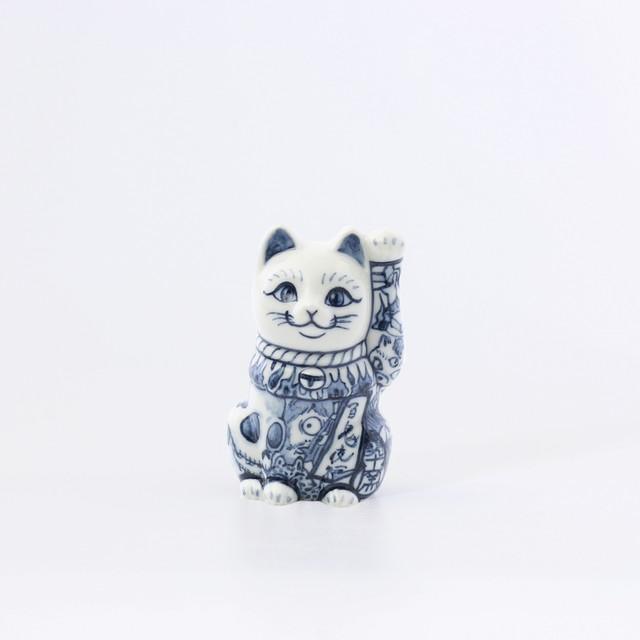 三寸招き猫「百鬼夜行」