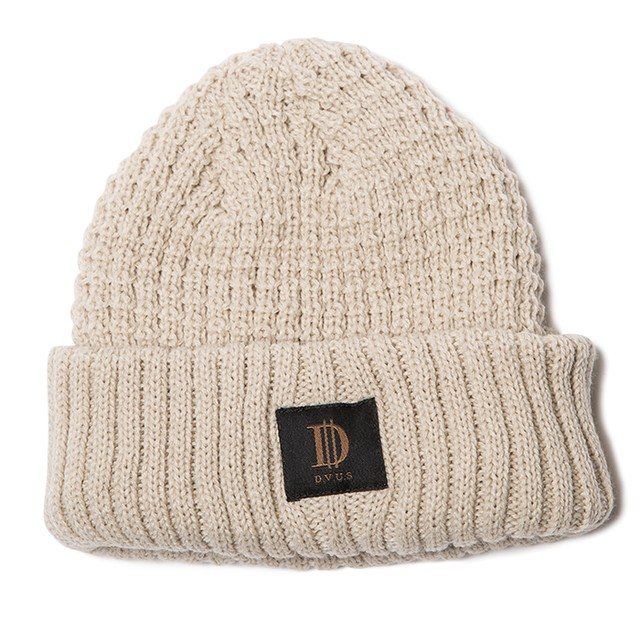 【Deviluse | デビルユース】D Roll Beanie(Beige)