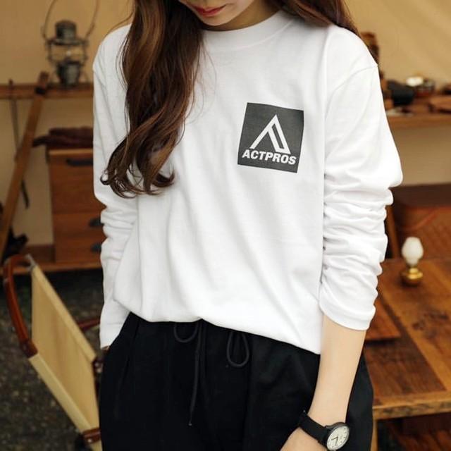 ACTPROS スクエアロゴ 5.6oz 長袖Tシャツ【UNISEX/3colors】