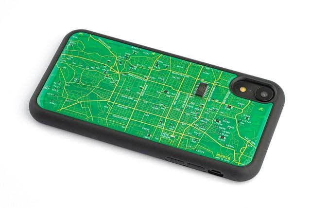 FLASH 京都回路地図 iPhone XRケース 緑【東京回路線図A5クリアファイルをプレゼント】
