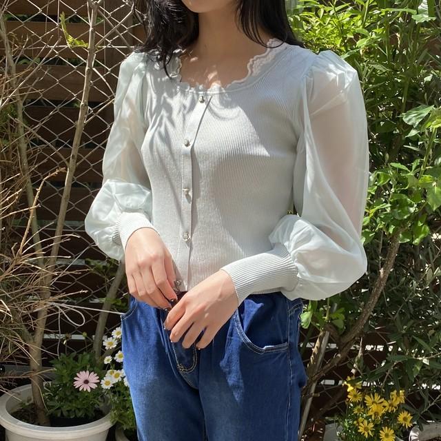 honey puff blouse[2103-26]