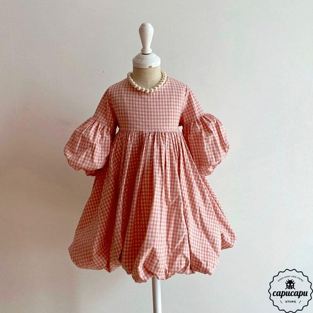 «sold out» One Day for The Celebration Dress gingham check ver.2 チェックバルーン ワンピース