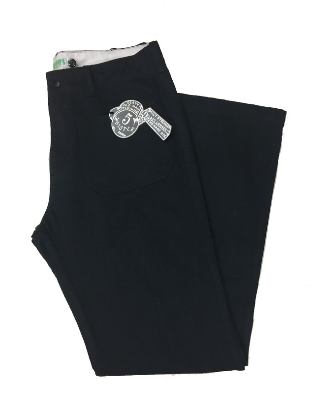 USN SAILOR PANTS  <BLACK>
