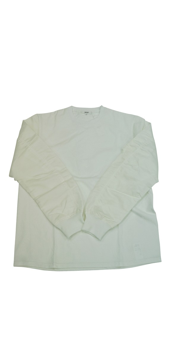 FLIGHT-SLEEVE L/SL Tee (WHITE / WHITE)