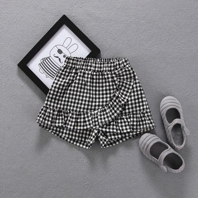 【子供服】ファッション簡約新作チェックコットンガールズショートパンツ20746696