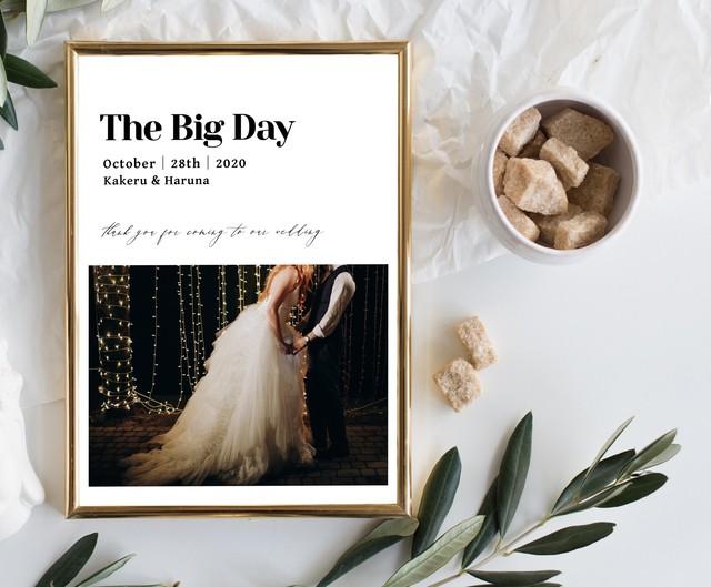 【前撮り/お好きなお写真で】結婚式 ウェディング ウェルカムボード