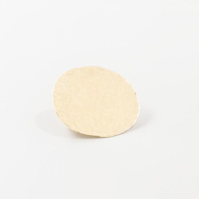brass brooch【 hammered ・ circle 】