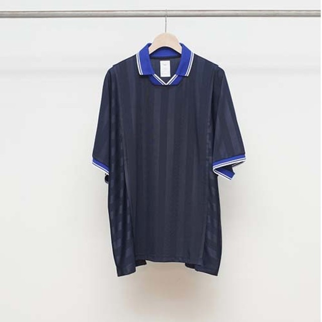 Name. 【ネーム】STRIPED TRIM POCKET TEE (SAX)