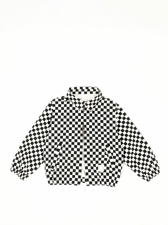 Kids Checkered Jacket - Black