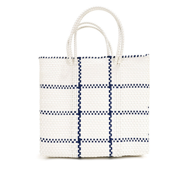 MERCADO BAG STICH- Navy x White(M)