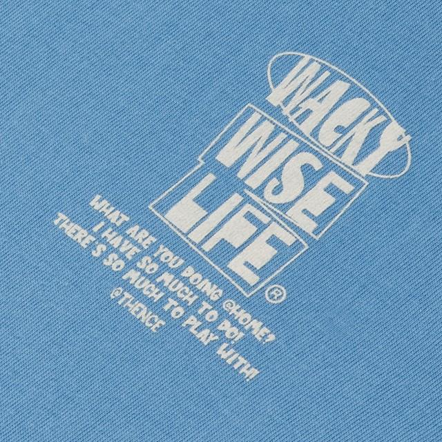 「WWL」レイヤードTシャツ スカイブルー