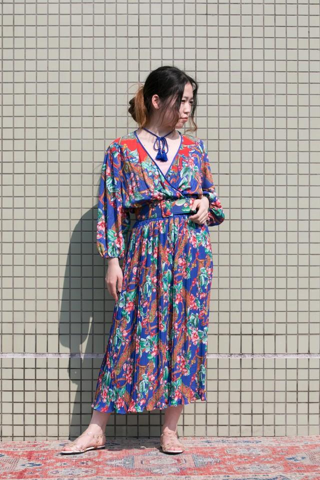 【Jabberwocky】1980s Diane Fres dress (D752)