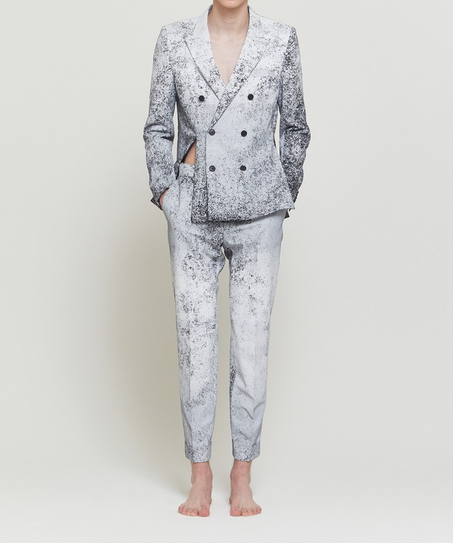 Whiteout Distorted Blazer