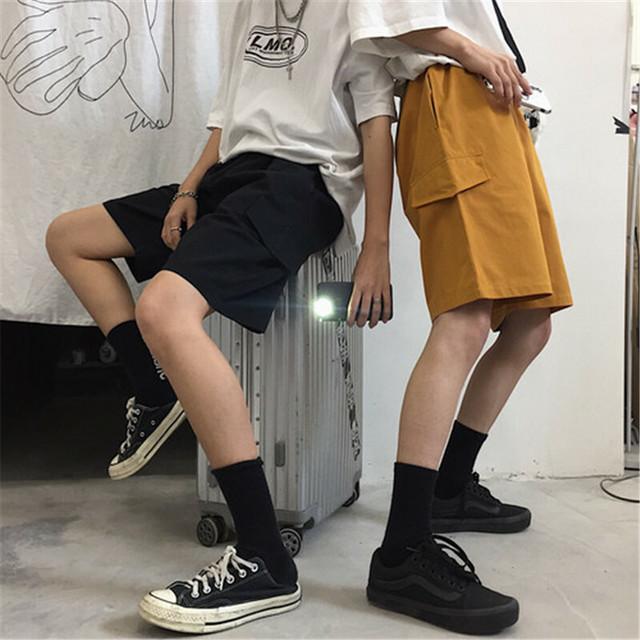 【ボトムス】無地カジュアルショートバンツ26020916