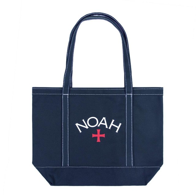 Contrast Stitch Tote(Navy)