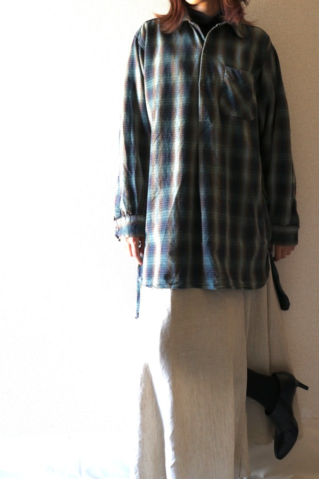 Vintage check grandpa shirt