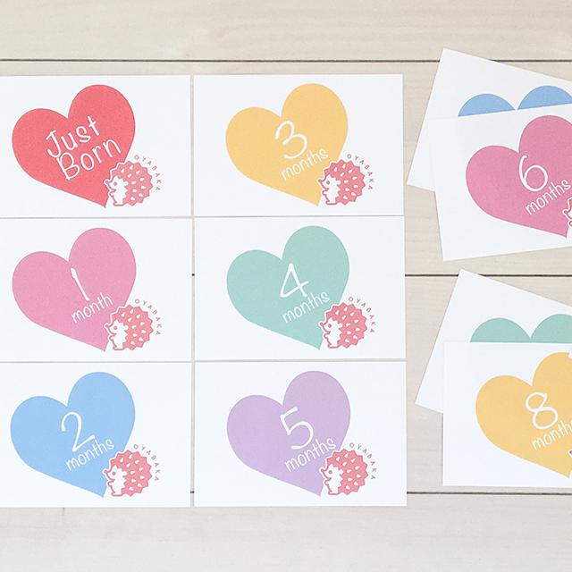 出産後〜1歳までの月齢カード