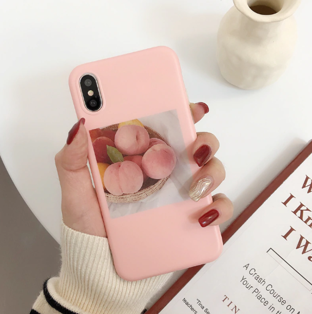 【オーダー商品】 Pink peach iphone case