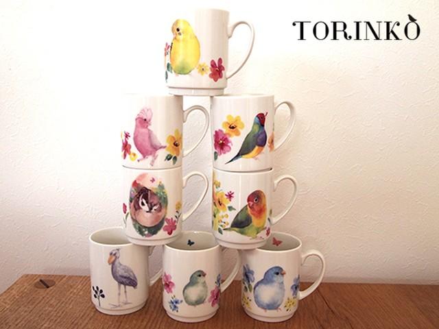 色鳥どり 鳥・インコ マグカップ
