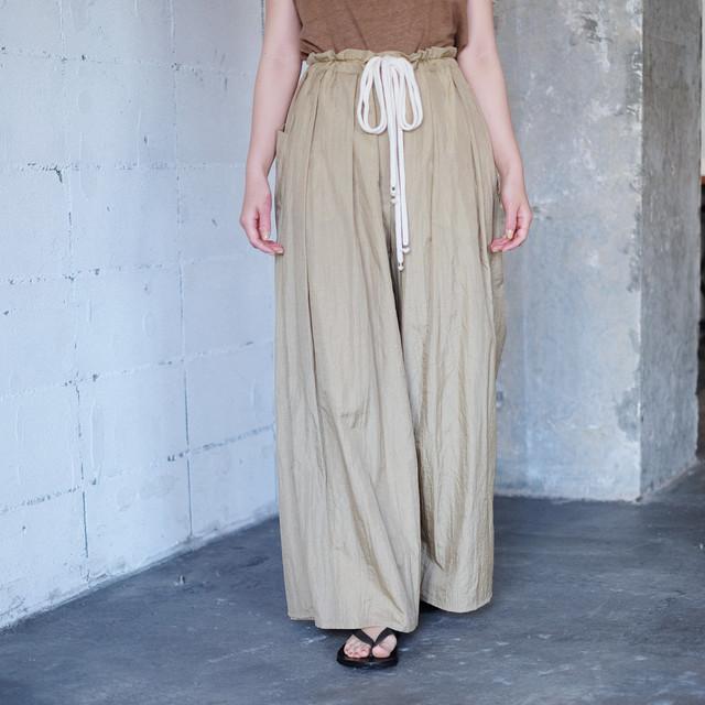 Reversible wide pants  [ Beige × Beige ]