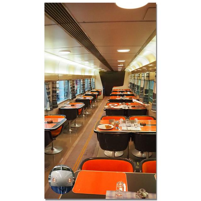 【4589839356831予】新幹線 マルチタペストリーのれん 0系食堂車