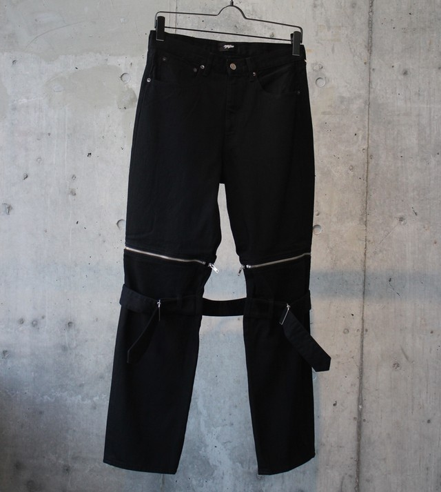 DENIM BONTAGE PANTS / BLACK - メイン画像