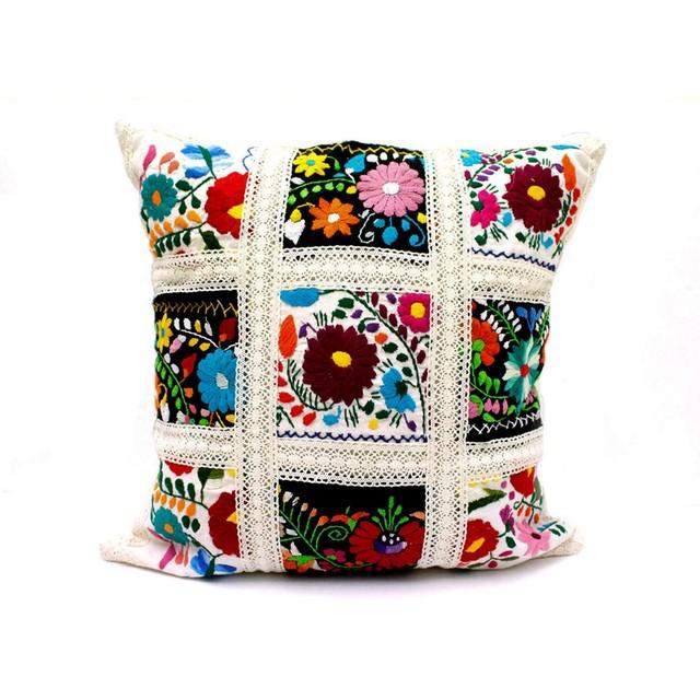 【再入荷】Mexican Embroidered Cushion Cover