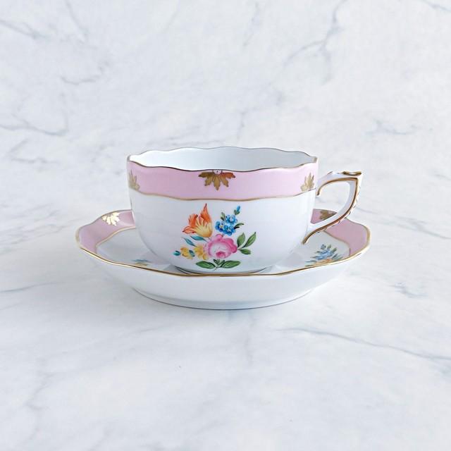 ヘレンド ローズチューリップ ピンク ティーカップ&ソーサー RTFP