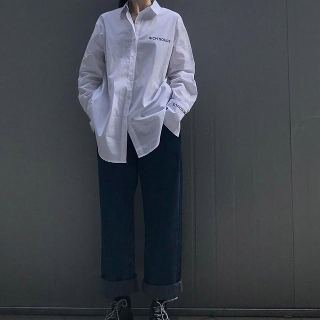 ロング丈ベーシックシャツ