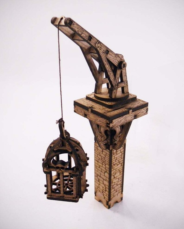 ウクライナダンジョン Crane with small cage(Deep Dark Dungeons Terrain)