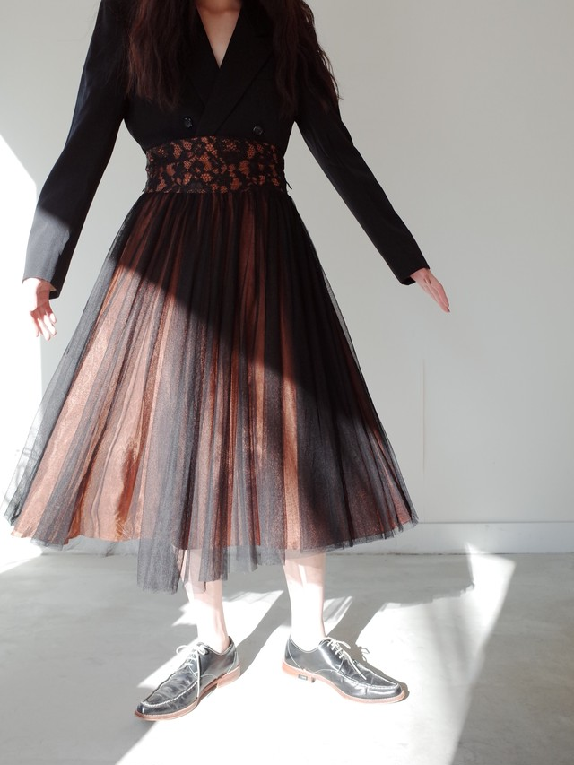 used lace tulle skirt