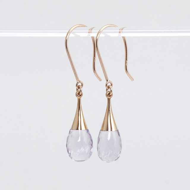 Drop earrings / Amethyst