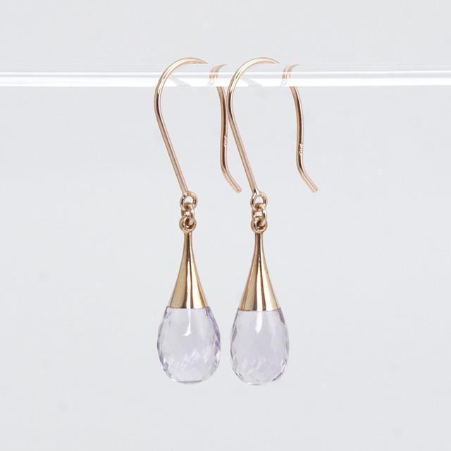 Drop earrings / Amethyst
