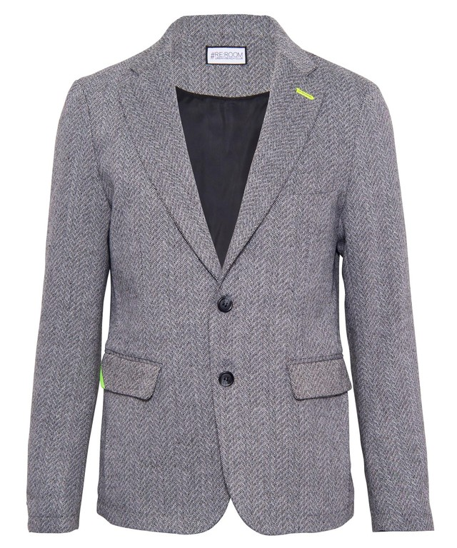 HERRINGBONE SLIM TAILORED JACKET[RUJ010]