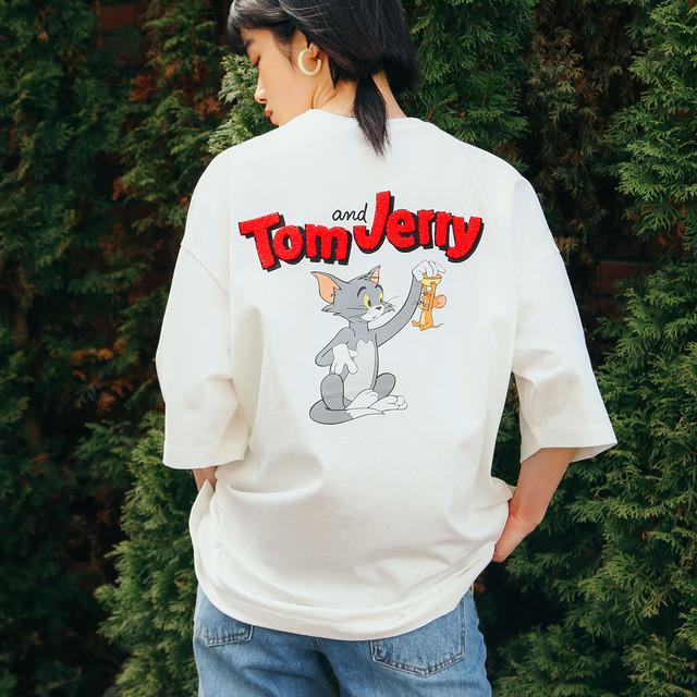 【Tom&Jerry】サガラ刺繍OVER Tシャツ NO1515027