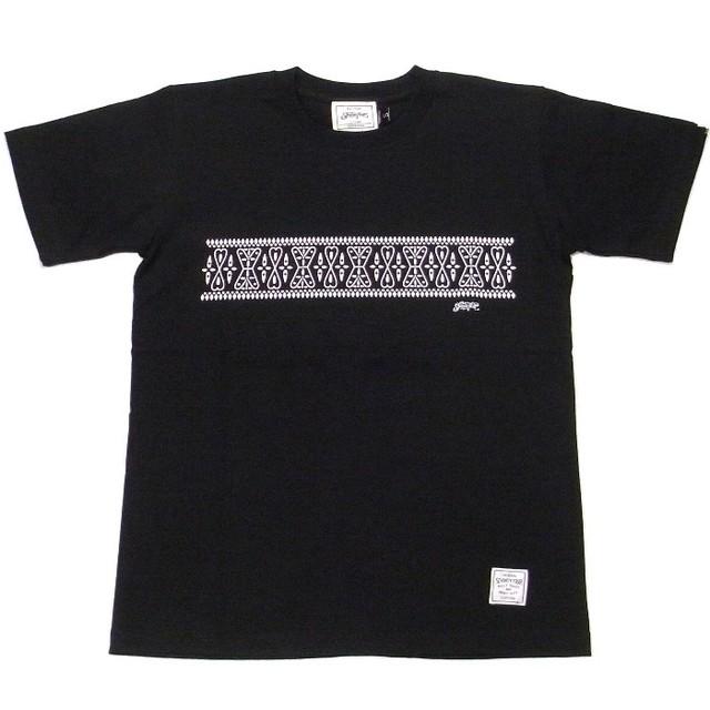 SEVENTY FOUR(セブンティーフォー) / GEOMETRIC BORDER T-SHRIT(STF19FW17)(Tシャツ)