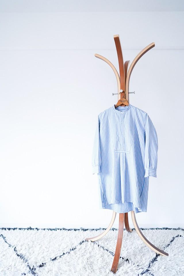 "【1950-60s】""French Made"" Euro Vintage Grandpa Shirts / v518"