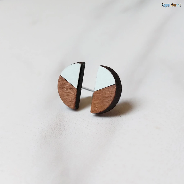 Formica Claire Studs | 結婚記念日プレゼント | ピアス | 木婚式 |