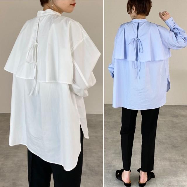 ◆即納/一部ご予約◆フライヨーク ケープシャツ ブラウス OP-t97