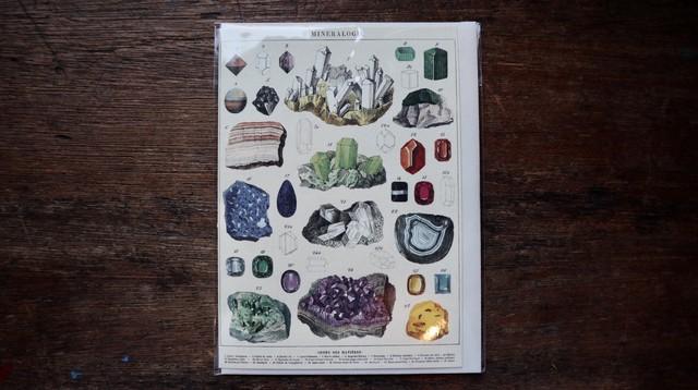 【再入荷】カバリーニ: 鉱物グリーティングカード